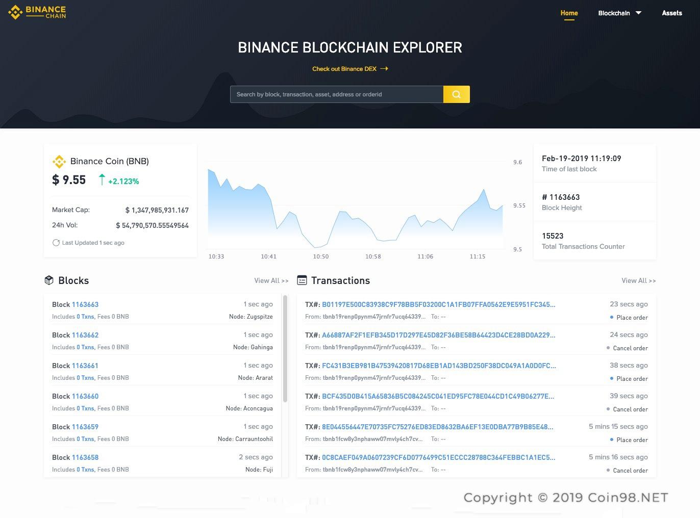 binance blockchain explorer