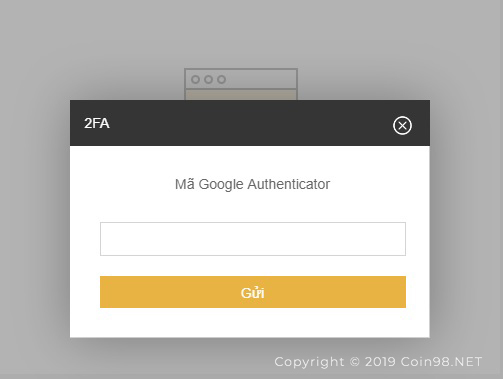 mã authenticator sàn binance