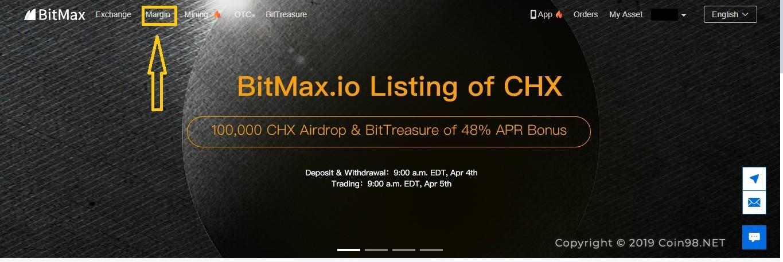 đăng nhập sàn Bitmax.io