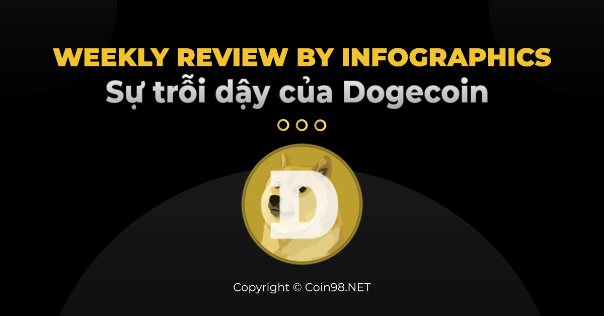 Weekly review by infographics sự trỗi dậy của dogecoin