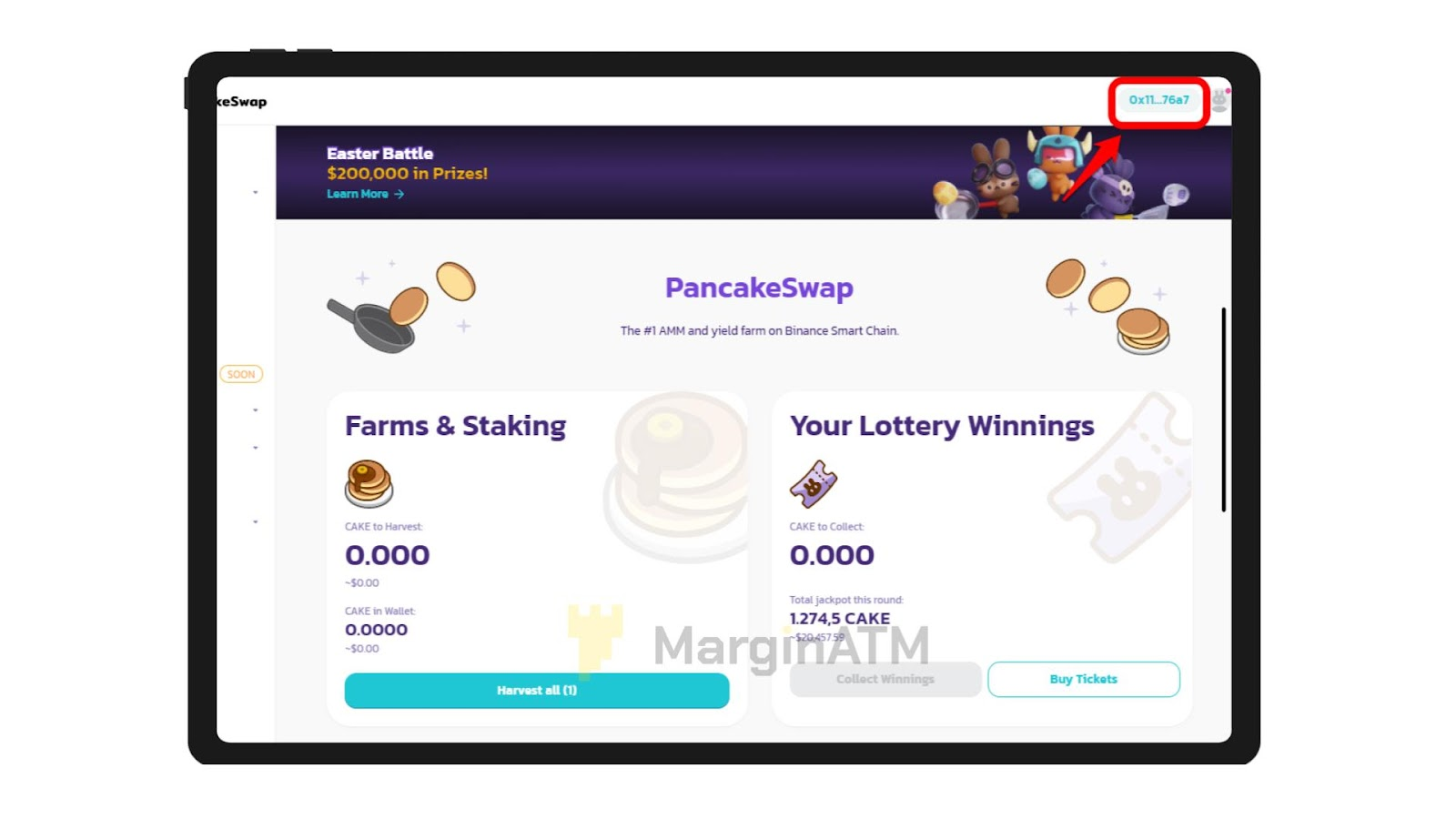 kết nối ví metamask với pancakeswap