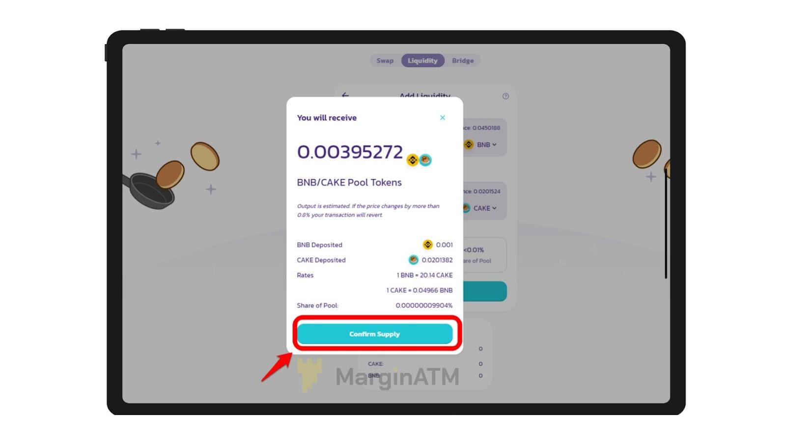 cung cấp thanh khoản trên pancakeswap