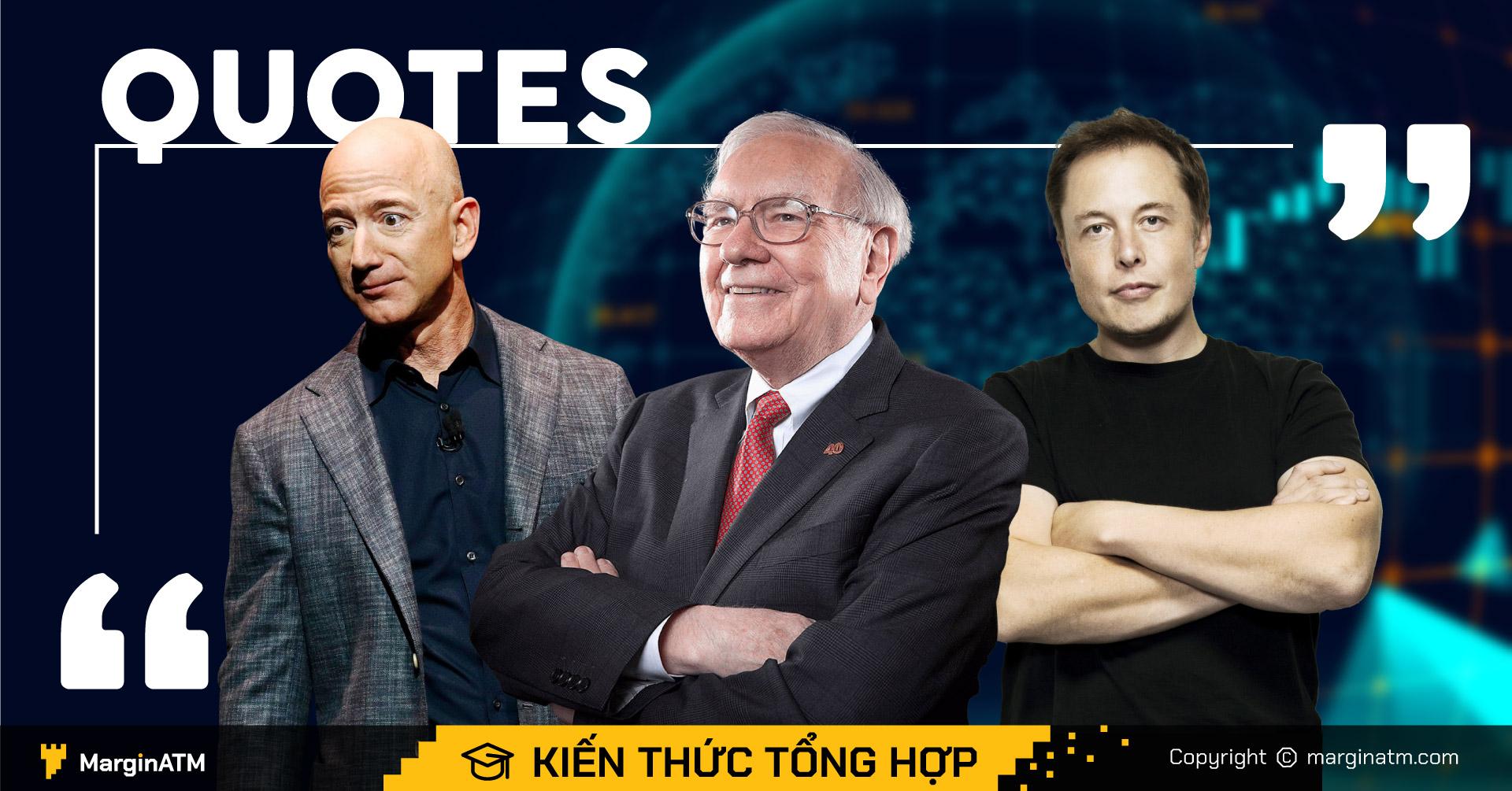 Top những câu nói hay của nhà đầu tư nổi tiếng trên thế giới